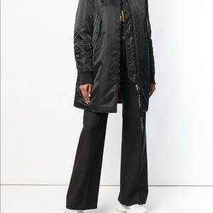 Acne Studios COOS Long Bomber Jacket - Black